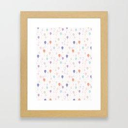 Pastel Party Balloon Vector Pattern Seamless Framed Art Print