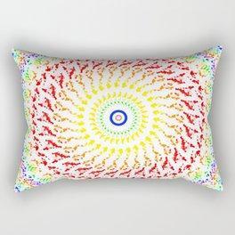 Rainbow Kaleidoscope 7 Rectangular Pillow
