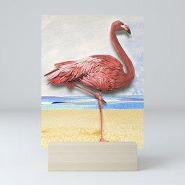 Weekend Flamingo Mini Art Print