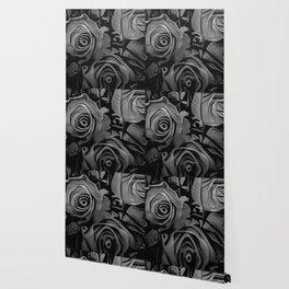 Black & White Roses Wallpaper