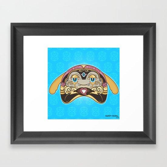 RUFUS (has a heart that shines like a diamond) Framed Art Print