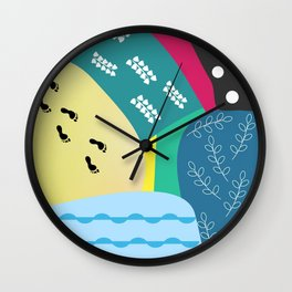 Abstract summer route Wall Clock