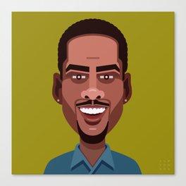 Comics of Comedy: Chris Rock Canvas Print
