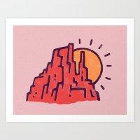utah Art Prints featuring Utah by WEAREYAWN