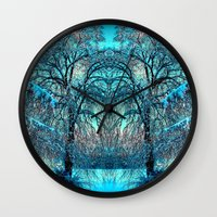 jack frost Wall Clocks featuring Frost by haroulita