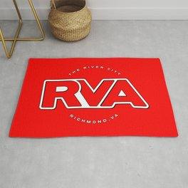 "Rva Logo - Red | "" The River City "" Rug"