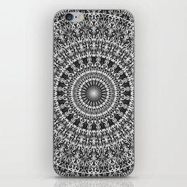 Grey Lace Ornament Mandala iPhone Skin