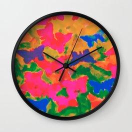 float like a butterfly 2 Wall Clock