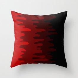 Splash of colour (red) Throw Pillow