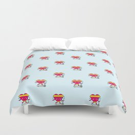 My heart goes faster for you pattern Duvet Cover