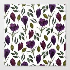 Plum Rose Garden Canvas Print