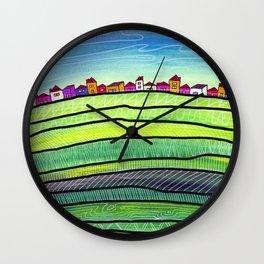 Palouse farm town Wall Clock