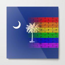 Rainbow Wall South Carolina Metal Print