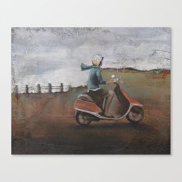 She Rode Along Canvas Print