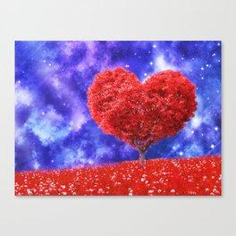 Cosmic love tree Canvas Print