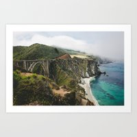 big sur Art Prints featuring Big Sur by Nicole Leever