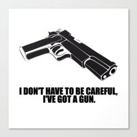 gun Canvas Prints featuring gun by muffa