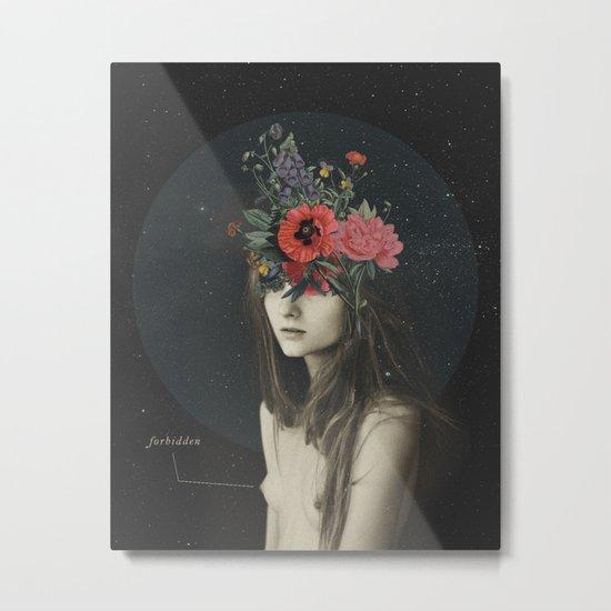 mujer florero Metal Print