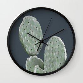 Barbery fig - navy Wall Clock