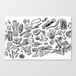Woodland Spread Canvas Print