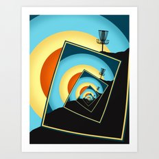 Spinning Disc Golf Baskets 1 Art Print