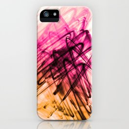 Deep Cerise and Sunburnt Abstract Fluid Lines iPhone Case