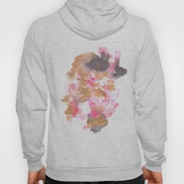 Watercolor Pink Black Flow | [dec-connect] 5. choppy Hoody