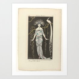 Journal des Dames and Modes, Costumes Parisiens, 1914, No. 168  Great evening dress ..., George Barb Art Print