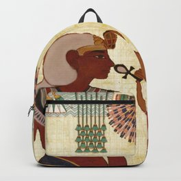 egyptian design man woman priest Backpack