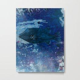 Cosmic fish, ocean, sea, under the water Metal Print