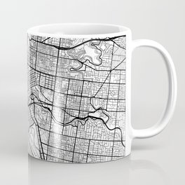 Melbourne Map White Coffee Mug