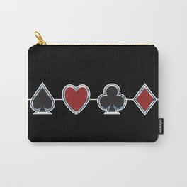 Spades Hearts Clubs Diamonds Carry-All Pouch