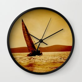 single sailboat Wall Clock