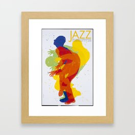 Affiche Jazz international festival AARHUS Framed Art Print