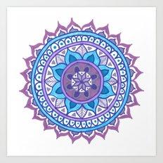 Purple and Blue Mandala Art Print