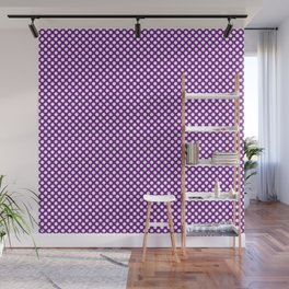 Winterberry and White Polka Dots Wall Mural
