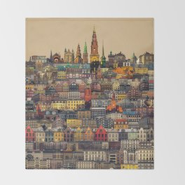 Copenhagen Facades Throw Blanket