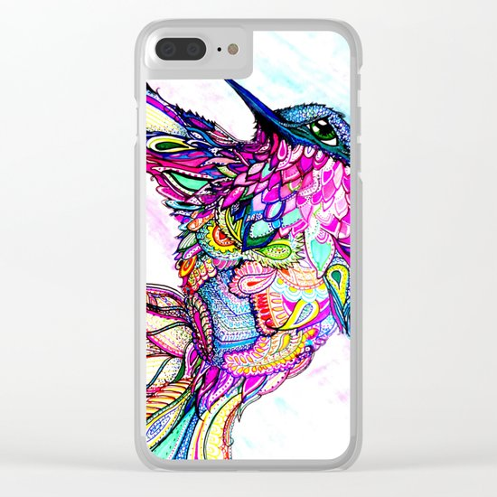 Illusion Fantasy in Flight Clear iPhone Case