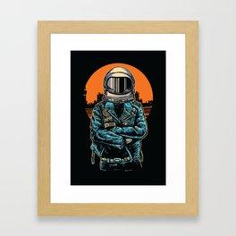Rebel Astronout Framed Art Print