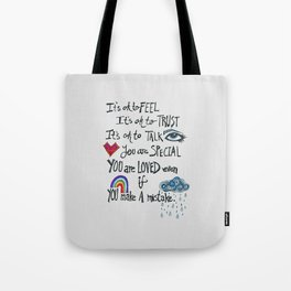 Family Motto Tote Bag