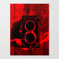 vintage camera Canvas Prints featuring Camera by short stories gallery