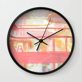 Layers And Chevrons Wall Clock