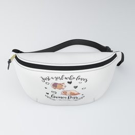 Funny Saying Just A Girl Who Loves Guinea Pigs Fanny Pack