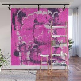 marble tie dye: bright pink Wall Mural