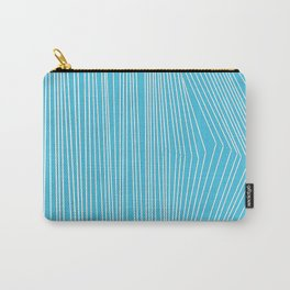Abstract Blue Lines Carry-All Pouch