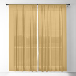Golden Mustard Solid Color Pairs w/ Sherwin Williams 2020 Trending Color Auric Gold SW6692 Sheer Curtain