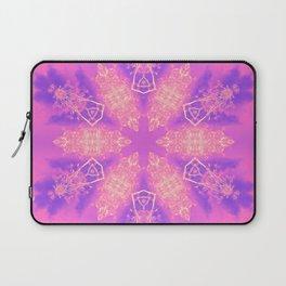 Alien pink snowflake Laptop Sleeve