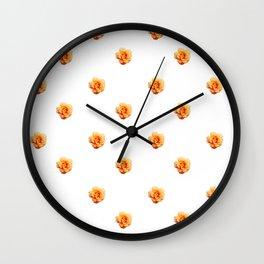Rose Pattern Wall Clock