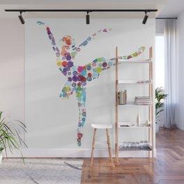 Confetti Ballerina Wall Mural