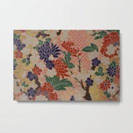 Origami Paper Metal Print